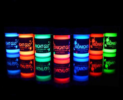 uv neon face body paint glow kit 7 bottles 75 oz each top