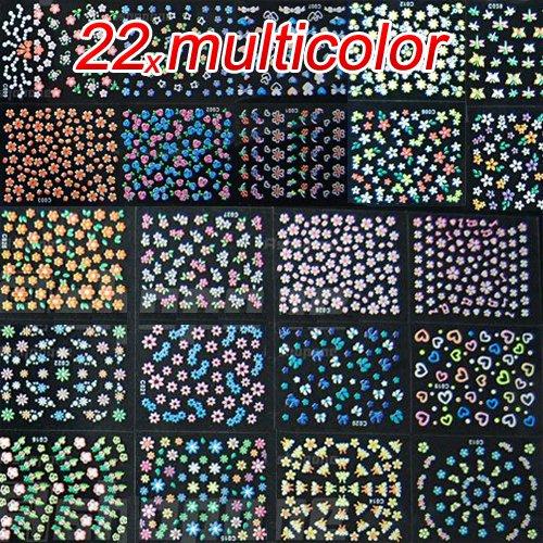 New 50 Sheets Design Nail Art Sticker